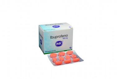 Ibuprofeno 600 mg Caja Con 50 Tabletas Cubiertas
