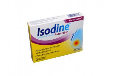 Isodine Caja Con 6 Pastillas - Frutos Rojos
