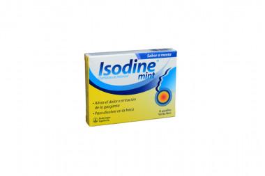 Isodine Mint Caja Con 6 Pastillas - Sabor A Menta