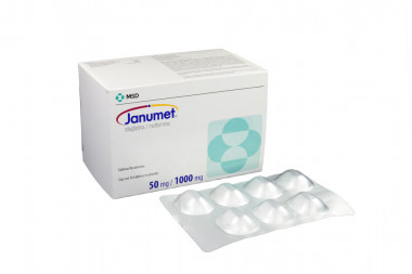 Janumet 50 / 1000 mg Caja Con 56 Tabletas Recubiertas