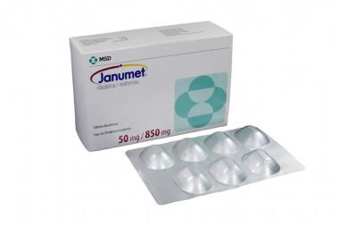 Janumet 50 / 850 mg Caja Con 28 Tabletas Recubiertas