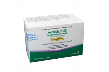 Kombiglyze XR 2.5 / 1000 mg Caja Con 56 Comprimidos Recubiertos