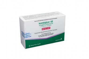 Kombiglyze XR 5 / 1000 mg Caja Con 28 Comprimidos Recubiertos