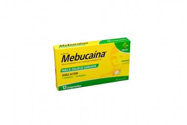 Mebucaína 1 / 0.2 mg Caja Con 12 Comprimidos - Sabor Menta