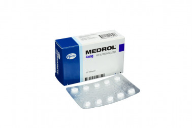 Medrol 4 mg Caja Con 30 Tabletas