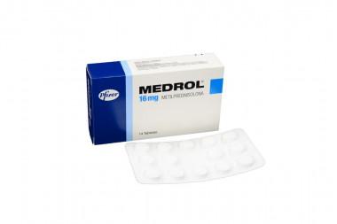 Medrol 16 mg Caja Con 14 Tabletas