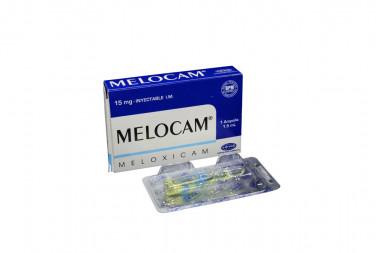 Melocam Solución Inyectable 15 mg Caja Con 1 Ampolla De 1.5 mL