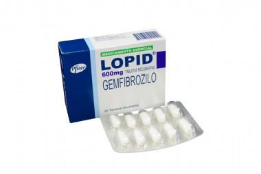 Lopid 600 mg Caja Con 20 Tabletas Recubiertas