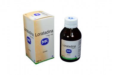 Loratadina Jarabe 1 mg Caja Con Frasco Con 100 mL