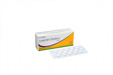 Losartán Potásico 50 mg Caja Con 30 Tabletas Cubiertas