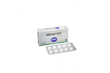 Metoprolol 50 mg Caja Con 30 Tabletas