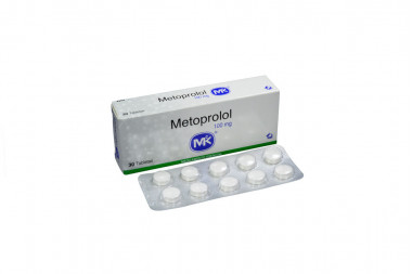 Metoprolol 100 mg Caja x 30 Tabletas – Antihipertensivo