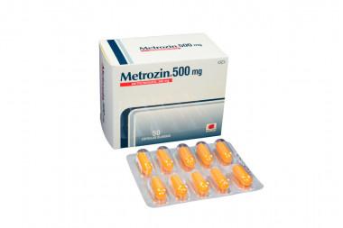 Metrozin 500 mg Caja Con 50 Cápsulas Blandas