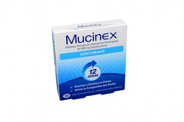 Mucinex 600 mg Caja Con 20 Tabletas