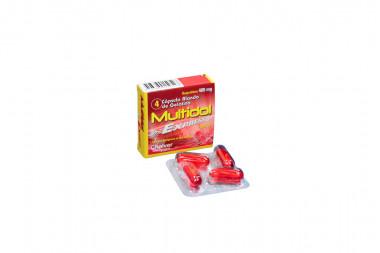 Multidol Express 400 Mg Caja Con 4 Cápsulas Blandas De Gelatina