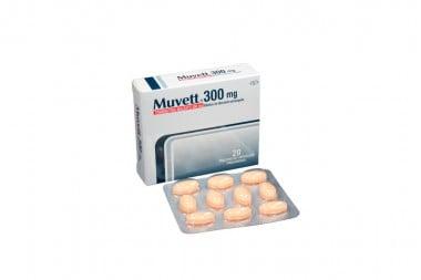 Muvett 300 mg Caja Con 20 Tabletas De Liberación Prolongada