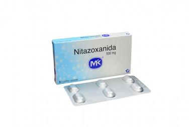 Nitazoxanida Mk 500 mg Caja Con 6 Tabletas Cubiertas