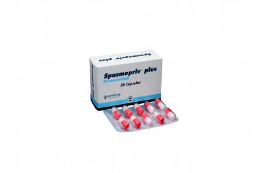 Spasmopriv Plus 200 mg Caja Con 30 Cápsulas
