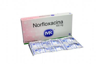 Norfloxacina 400 mg Caja Con 14 Tabletas Recubiertas