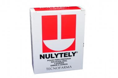 Nulytely Polvo Caja Con 4 Sobres - Sabor a Cereza Solución Oral