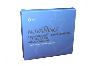 NuvaRing 11.7 / 2.7 mg Caja Con 1 Sobre Con 1 Anillo Vaginal