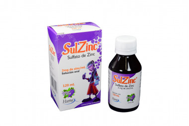 SulZinc 2 mg Caja Con Frasco x 120 mL Sabor A Uva