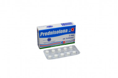 Prednisolona 5 mg Caja Con 30 Tabletas