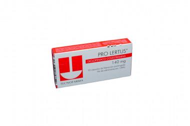 Pro Lertus 140 mg Caja Con 10 Cápsulas De Liberación Prolongada