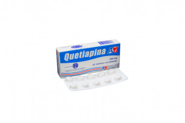 Quetiapina 100 mg Caja Con 30 Tabletas Recubiertas