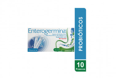 Enterogermina Suspensión Oral Caja Con 10 Frascos De 5 mL