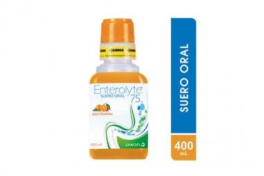 Enterolyte 75 mEq Suero Oral Frasco Con 400 mL - Sabor a Mandarina