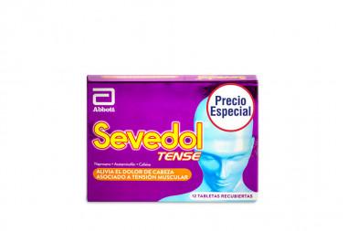 OF. SEVEDOL TENSE CAJA CON 12 TABLETAS RECUBIERTAS