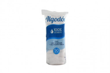 Algodón 100% Absorbente Empaque Con 50 g