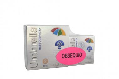Umbrella Base Compacta 2 Beige Caja Con Estuche Con 11 g + Obsequio