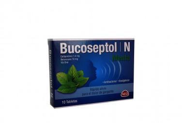 Bucoseptol N 1.4 / 10 mg Caja Con 10 Tabletas – Menta