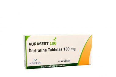 Aurasert 100 mg Caja Con 14 Tabletas