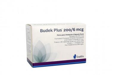 Budek Plus 200 / 6 mcg Caja Con Frasco Con 60 Cápsulas Con Polvo Para Inhalar