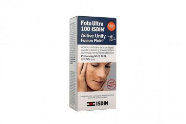 FotoUltra 100 ISDIN Active Unify SPF 50 Caja Con Frasco Con 50 mL