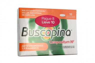 Buscapina Compositum 10 mg / 325 mg Caja Con 10 Comprimidos – Pague 8 Lleve 10