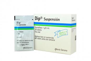 Dip 1 g / 5 mL Suspensión Caja Con 20 Sobres Con 5 mL C/U