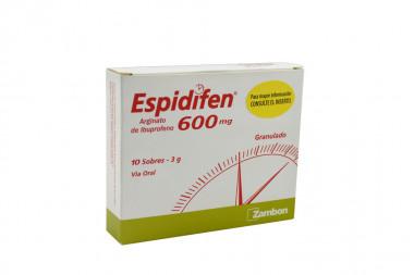 Espidifen 600 mg Caja Con 10 Sobres Con 3 g C/U