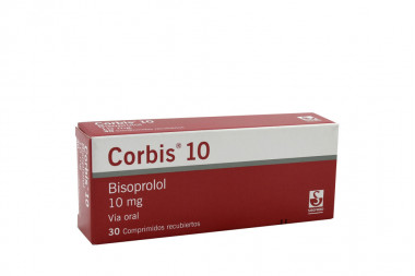 Corbis Bisoprolol 10 mg Caja Con 30 Comprimidos