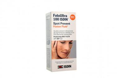 FotoUltra 100 ISDIN Spot Prevent SPF 50 Caja Con Frasco Con 50 mL