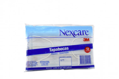 Nexcare Tapabocas Desechable Bolsa Con 12 Unidades