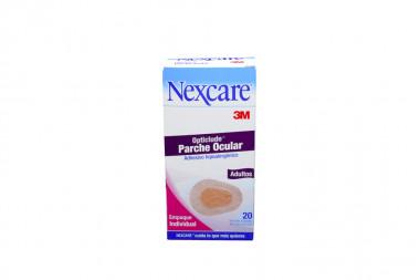 Opticlude Parche Ocular Nexcare 8.3 cm x 5.3 cm Caja Con 20 Unidades Grandes - Adultos