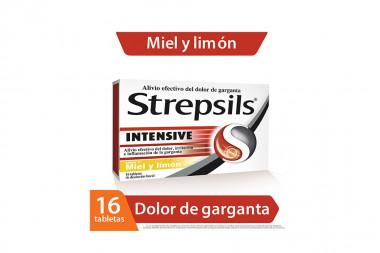 Strepsils Intensive Miel y Limón Caja x 16 tabletas