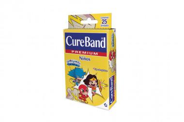 Curas Cureband Premium Niños Super Friends Caja Con 25 Unidades