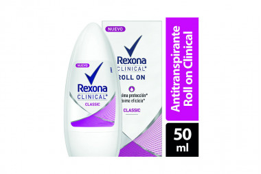 Desodorante Rexona Classic Máxima Eficacia Caja Con Frasco Con 50 mL