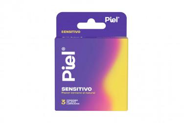 Condones Piel Sensitivo Caja Con 3 Unidades - Lubricados