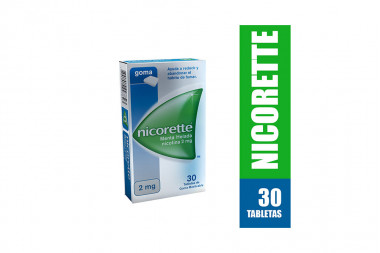 Nicorette 2 mg Caja Con 30 Tabletas De Goma Masticable
